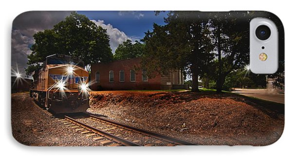 Union Pacific 7917 Train IPhone Case by Linda Unger