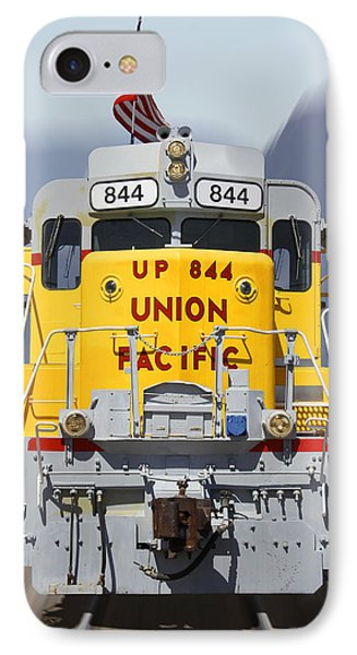 Union Pacific 844 On The Move IPhone Case by Mike McGlothlen