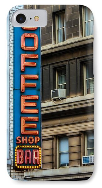 Union Square Coffee Shop Sign IPhone Case by Jon Woodhams
