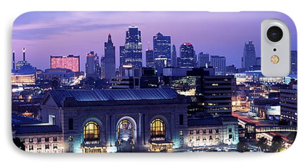 Union Station At Sunset With City IPhone Case