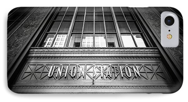 Union Station Chicago In Black And White Phone Case by Paul Velgos