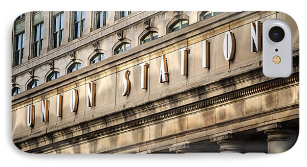 Union Station Chicago Sign And Building Phone Case by Paul Velgos