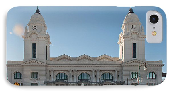 Union Station Worcester Massachusetts IPhone Case by John Black