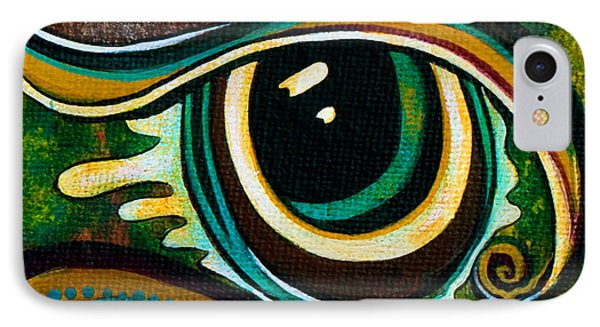 IPhone Case featuring the painting Unique Spirit Eye by Deborha Kerr