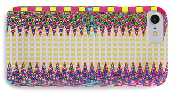 Unique Stripe Art Check Boxes Colorful Waves Pattern Signature Navinjoshi Top100    Ideal For Throw  IPhone Case by Navin Joshi