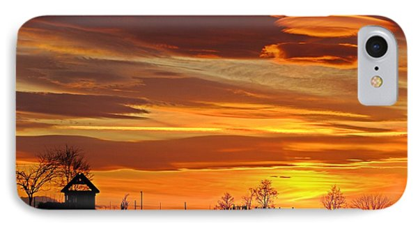 IPhone Case featuring the photograph Unique Sunset by Lynn Hopwood
