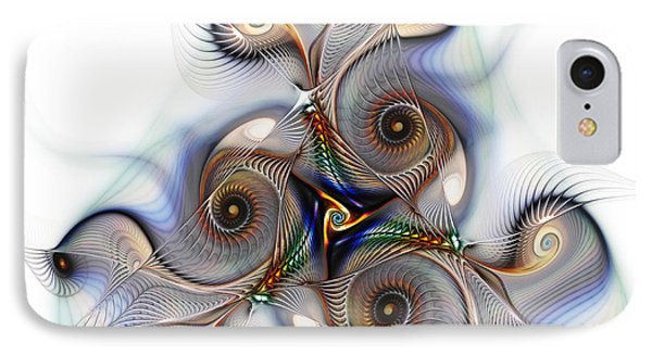 Unison Fractal Art IPhone Case by Karin Kuhlmann