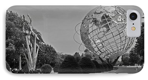 Unisphere In Corona Park Phone Case by Mike Martin