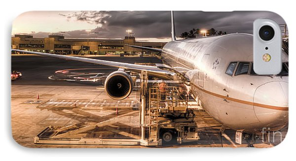 United Airlines Jet Ready For Departure IPhone Case by Dustin K Ryan