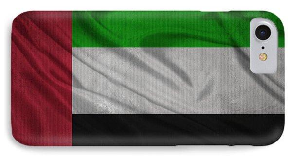 United Arab Emirates Flag Waving On Canvas IPhone Case by Eti Reid