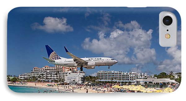 United Low Approach St Maarten IPhone Case by David Gleeson