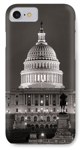 United States Capitol At Night IPhone Case by Olivier Le Queinec