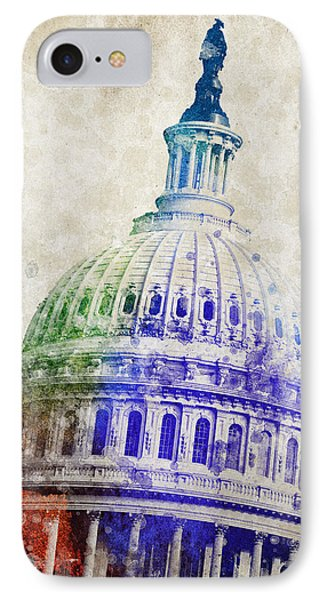 United States Capitol Dome Phone Case by Aged Pixel