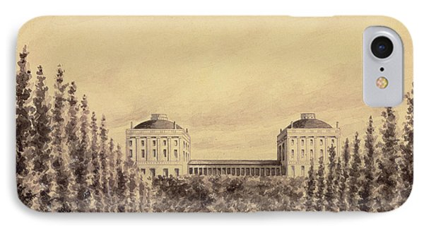United States Capitol From Pennsylvania Avenue IPhone Case by Benjamin Henry Latrobe