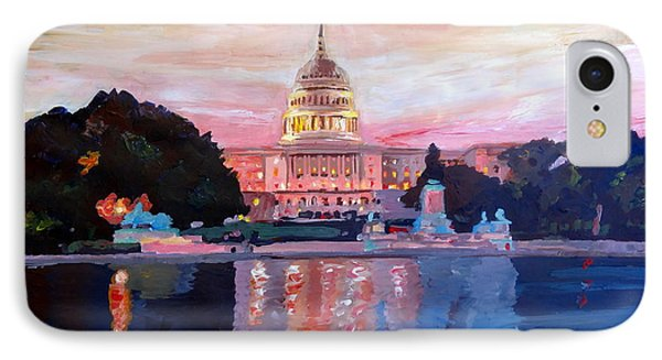 United States Capitol In Washington D.c. At Sunset Phone Case by M Bleichner