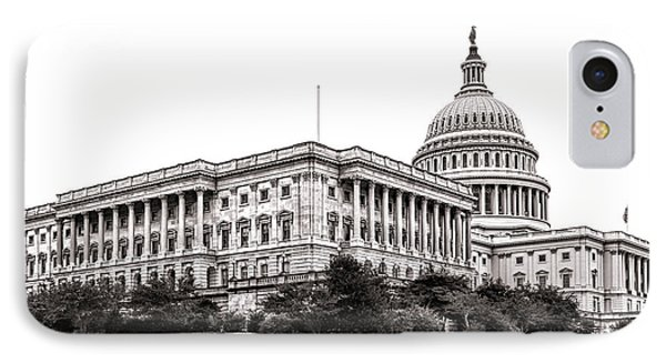 United States Capitol Senate Wing IPhone Case by Olivier Le Queinec