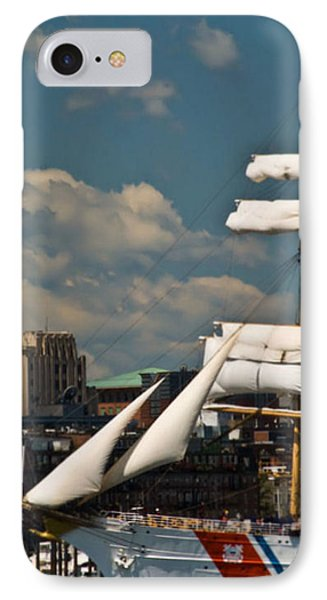IPhone Case featuring the photograph United States Coast Guard Cutter by Caroline Stella