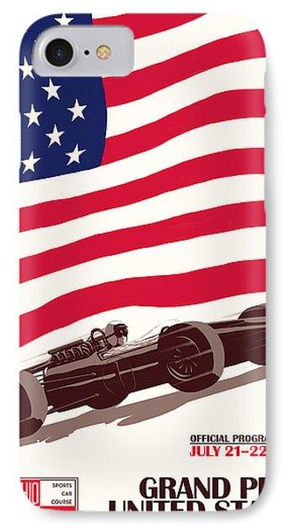 United States Grand Prix 1967 IPhone Case by Georgia Fowler
