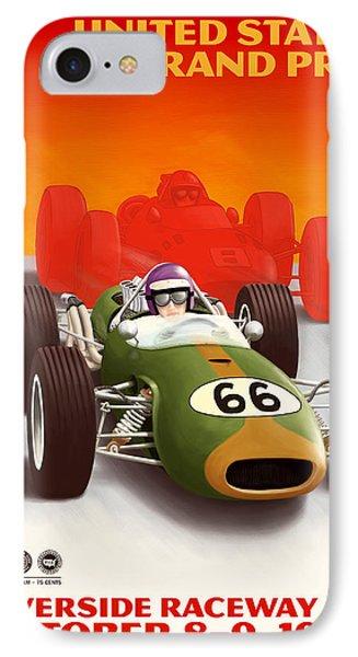 United States Grand Prix California 1966 IPhone Case by Georgia Fowler