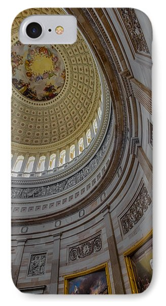 Unites States Capitol Rotunda IPhone Case by Susan Candelario