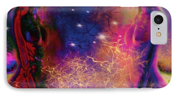Universal Spiritual Energy IPhone Case by Diana Riukas