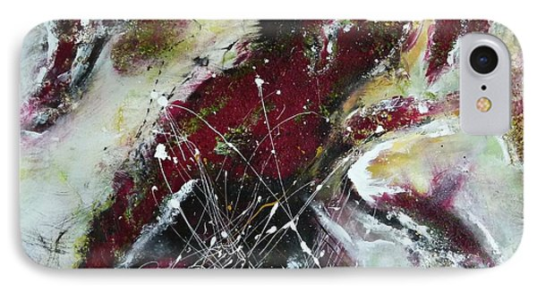 Universe- Abstract Art IPhone Case by Ismeta Gruenwald