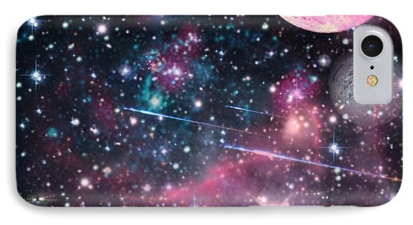 IPhone Case featuring the digital art Universe - Abstract by Ester  Rogers