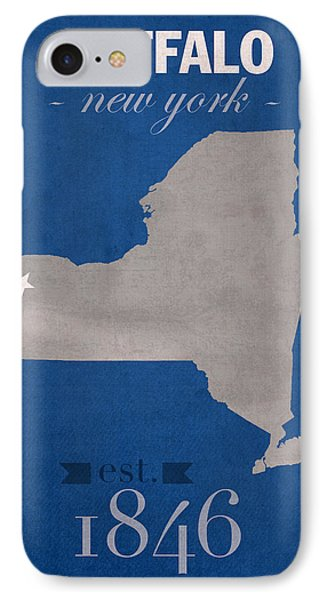 University At Buffalo New York Bulls College Town State Map Poster Series No 022 Phone Case by Design Turnpike