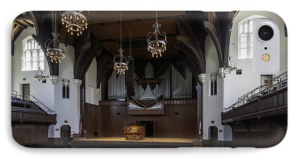 University Auditorium And The Anderson Memorial Organ Phone Case by Lynn Palmer