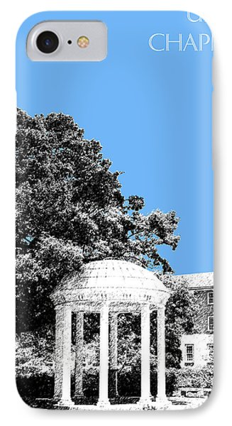 University North Carolina Chapel Hill - Light Blue IPhone Case by DB Artist