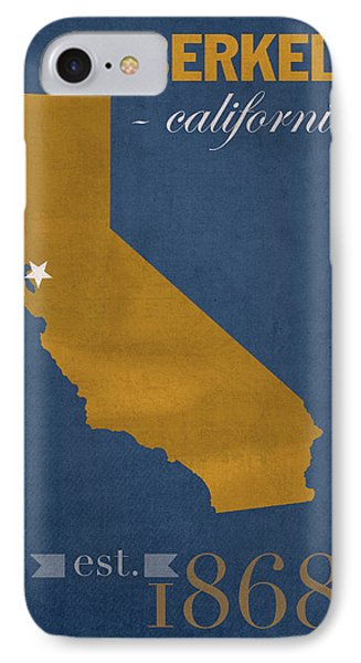University Of California At Berkeley Golden Bears College Town State Map Poster Series No 024 IPhone Case by Design Turnpike