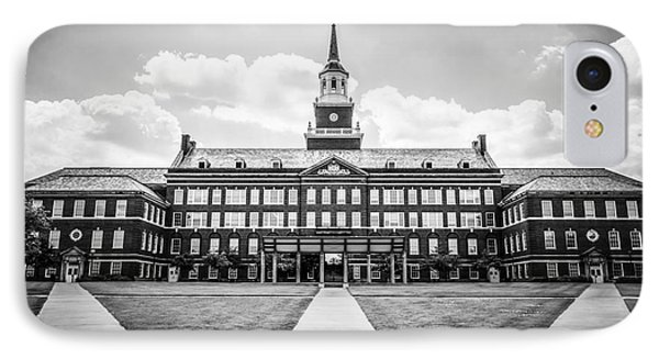 University Of Cincinnati Black And White Photo IPhone Case by Paul Velgos