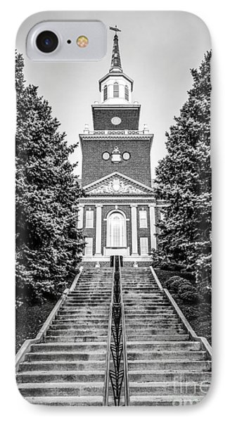 University Of Cincinnati Mcmicken Hall Black And White Picture IPhone Case by Paul Velgos