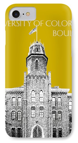 University Of Colorado Boulder - Gold Phone Case by DB Artist