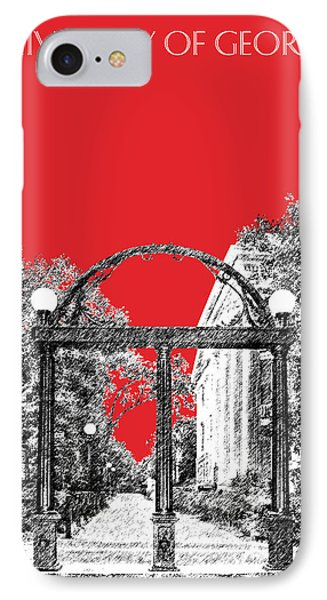 University Of Georgia - Georgia Arch - Red IPhone Case by DB Artist