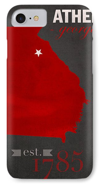 University Of Georgia Bulldogs Athens College Town State Map Poster Series No 040 IPhone Case