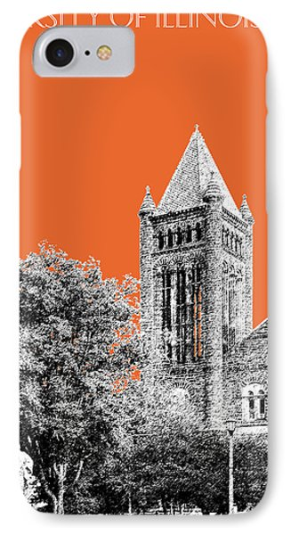 University Of Illinois 2 - Altgeld Hall - Coral IPhone 7 Case by DB Artist