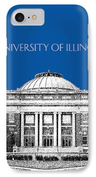 University Of Illinois Foellinger Auditorium - Royal Blue IPhone Case by DB Artist