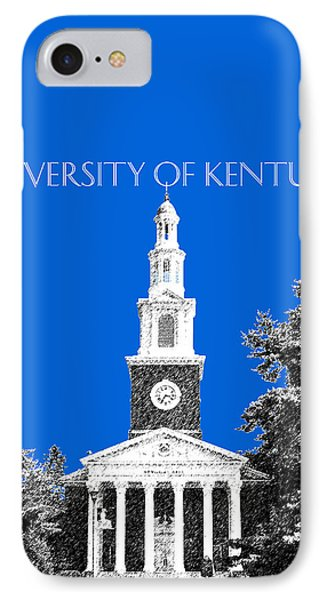 University Of Kentucky - Blue IPhone Case by DB Artist