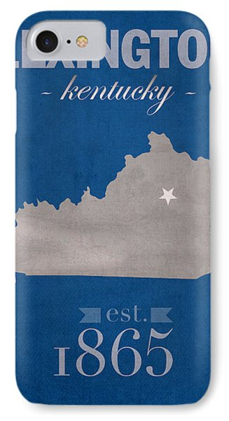 University Of Kentucky Wildcats Lexington Kentucky College Town State Map Poster Series No 054 IPhone Case