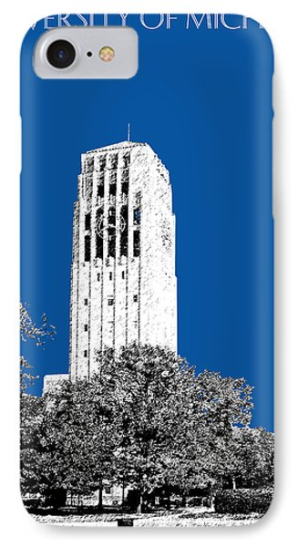 University Of Michigan - Royal Blue IPhone 7 Case by DB Artist