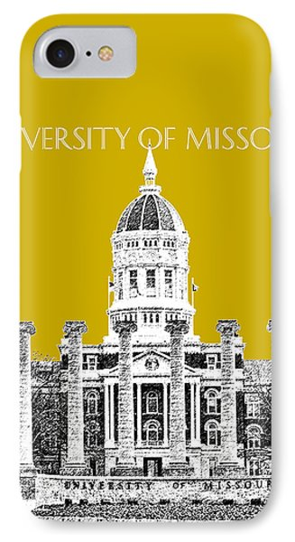 University Of Missouri - Gold IPhone Case by DB Artist