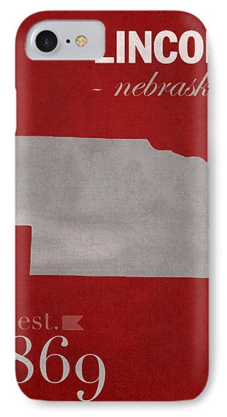 University Of Nebraska Lincoln Cornhuskers College Town State Map Poster Series No 071 IPhone Case
