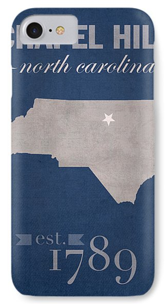 University Of North Carolina Tar Heels Chapel Hill Unc College Town State Map Poster Series No 076 IPhone Case