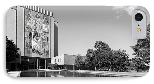 University Of Notre Dame Hesburgh Library IPhone Case by University Icons