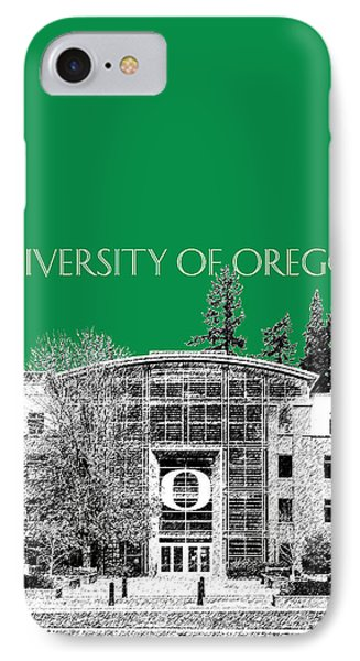 University Of Oregon - Forest Green IPhone Case by DB Artist