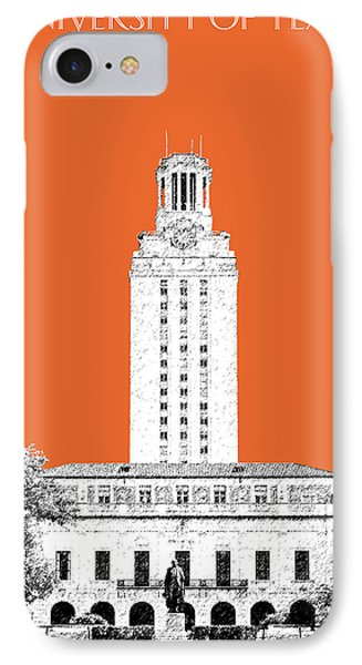 University Of Texas - Coral IPhone Case by DB Artist