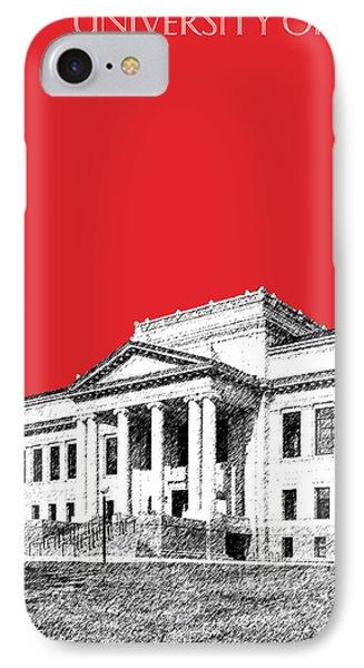 University Of Utah - Red IPhone Case by DB Artist