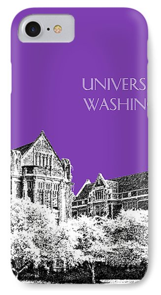 University Of Washington 2 - The Quad - Purple Phone Case by DB Artist