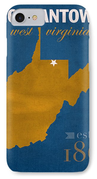 University Of West Virginia Mountaineers Morgantown Wv College Town State Map Poster Series No 124 IPhone Case by Design Turnpike